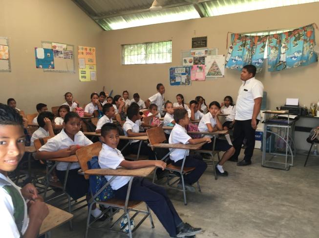 The Adrian Mejia School in El Progreso where we started a library