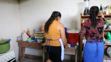 Mothers cooking at the centre