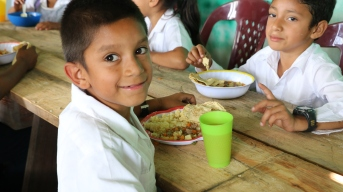 The child nutrition centre in Los Pozos, run by our partners Manos Que Ayudan Talanga