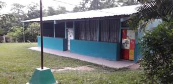 The Las Lagunas school building