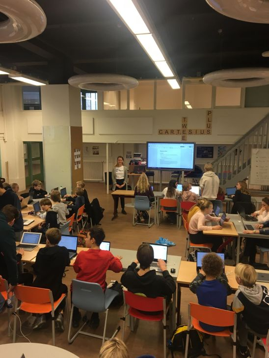 A workshop at a school in Amsterdam